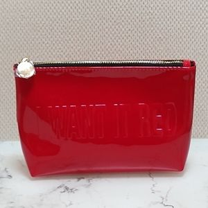 YSL I Want It Red Makeup Bag